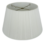 8016 Silk String Floor Lampshade With Hand Sewn Soft Lining 8016